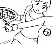 Coloriage et dessins gratuit Sport de Tennis à imprimer