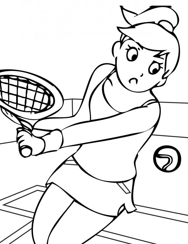 Coloriage et dessins gratuits Sport de Tennis à imprimer