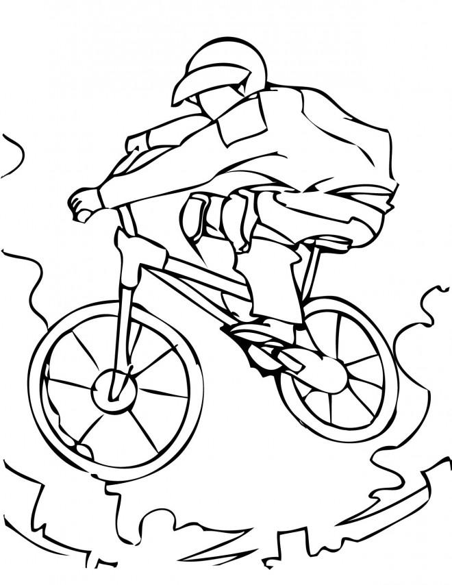 Coloriage sport extr me cycliste dessin gratuit imprimer - Coloriage de cycliste ...