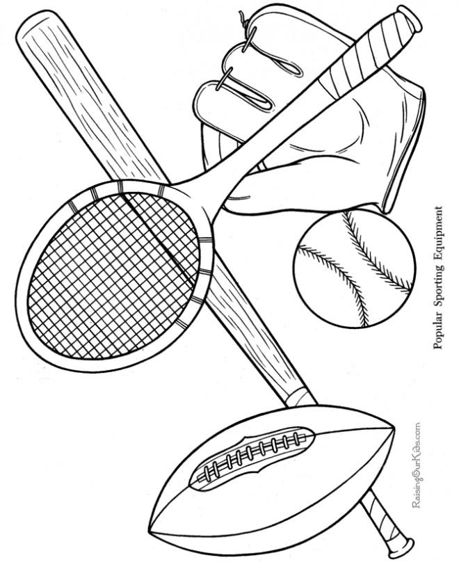 Coloriage et dessins gratuits Sport maternelle à imprimer