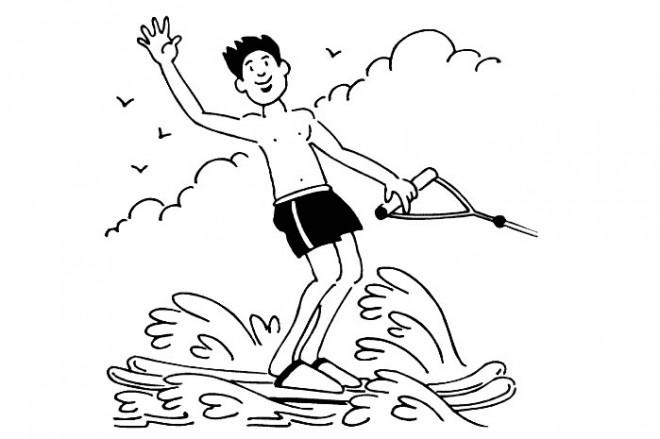 Coloriage et dessins gratuits Sports maritime à imprimer