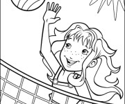 Coloriage Volley Beach sur La Plage