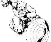 Coloriage et dessins gratuit Avengers Captain America à imprimer