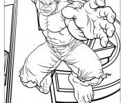 Coloriage dessin  Avengers Hulk 1