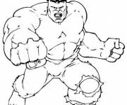 Coloriage et dessins gratuit Avengers le puissant Hulk à imprimer