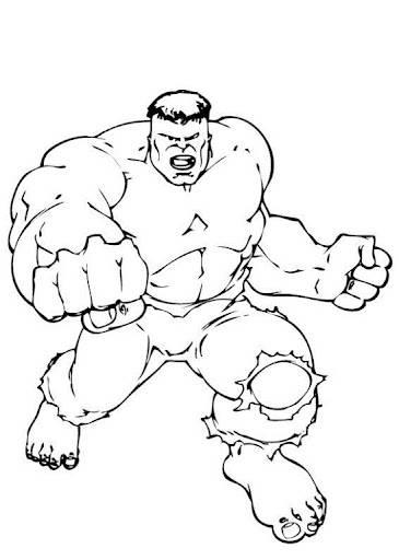 Coloriage et dessins gratuits Avengers le puissant Hulk à imprimer