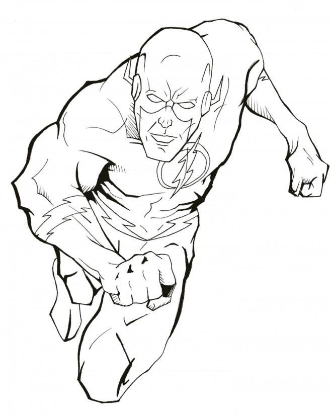 Coloriage et dessins gratuits Flash Super Héro à imprimer