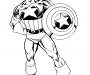 Coloriage Héro Captain America
