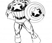 Coloriage et dessins gratuit Héro Captain America à imprimer
