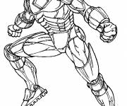 Coloriage et dessins gratuit Iron Man en colère à imprimer