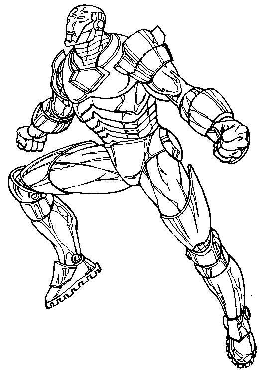Coloriage et dessins gratuits Iron Man en colère à imprimer