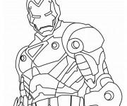 Coloriage Iron Man métalique