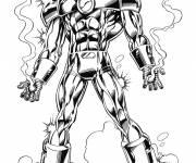 Coloriage et dessins gratuit Iron Man puissant à télécharger à imprimer