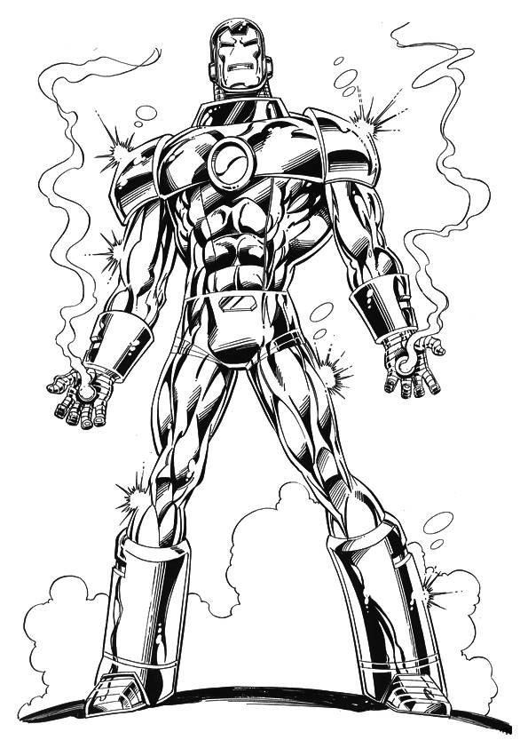 Coloriage Iron Man Puissant A Telecharger