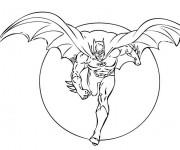 Coloriage et dessins gratuit Le Protecteur Héro Batman à imprimer