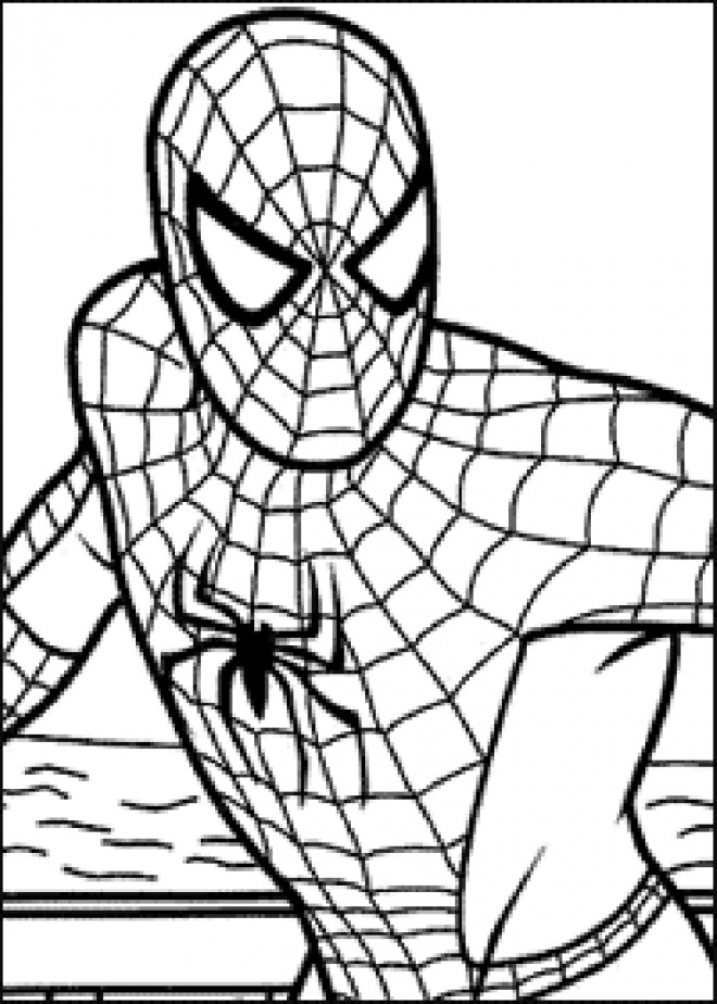 Coloriage spiderman facile d couper - Dessiner spiderman facile ...
