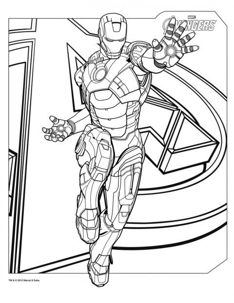 Coloriage Super Hero De Avengers Dessin Gratuit A Imprimer