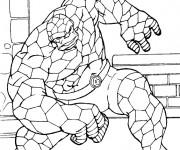 Coloriage et dessins gratuit Super Héro stylisé à imprimer