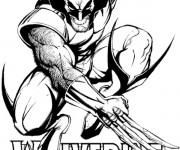 Coloriage Super Héro Wolverine