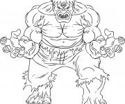 Coloriage et dessins gratuit Super Héros Avengers Hulk à imprimer
