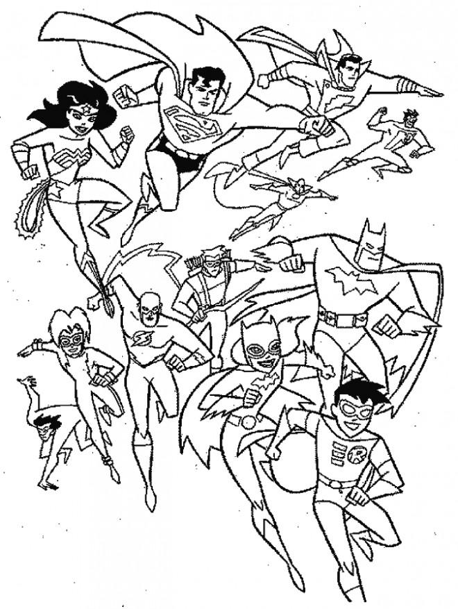 Coloriage et dessins gratuits Super Héros bienfaiteurs à imprimer
