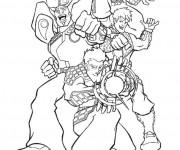 Coloriage et dessins gratuit Super Héros dessin animé à imprimer