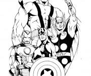 Coloriage et dessins gratuit Super Héros en couleur à imprimer