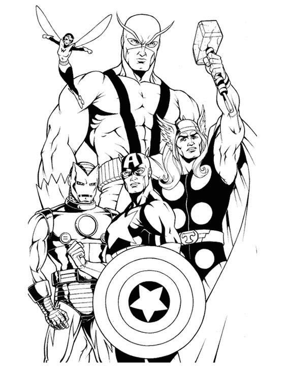 Coloriage Super Heros En Couleur Dessin Gratuit A Imprimer