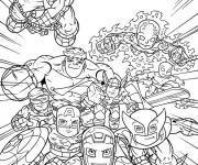 Coloriage Super Héros et leur force spécial