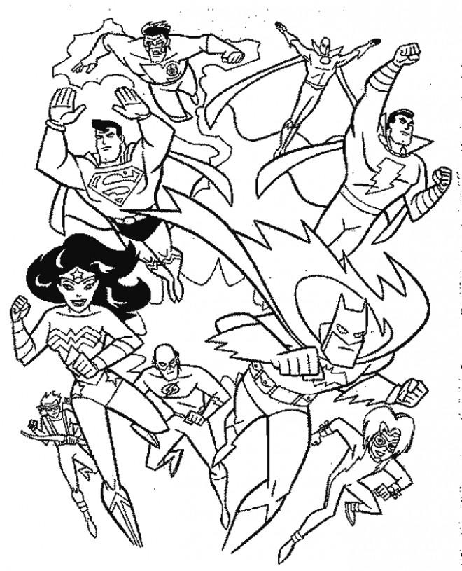 Coloriage et dessins gratuits Super Héros inventé à imprimer