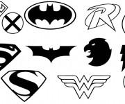 Coloriage et dessins gratuit Super Héros Logos à imprimer