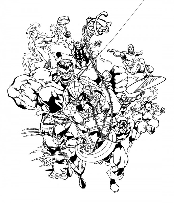 Coloriage super heros marvel 33 dessin gratuit imprimer - Coloriage gratuit super heros ...