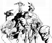 Coloriage Super Héros Marvel artistique