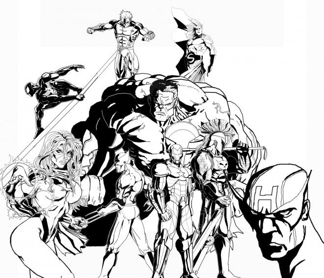 Coloriage Super Héros Marvel Artistique Dessin Gratuit à
