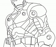 Coloriage Super Héros Marvel Iron Man