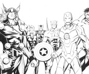 Coloriage Super Héros Marvel Personnages