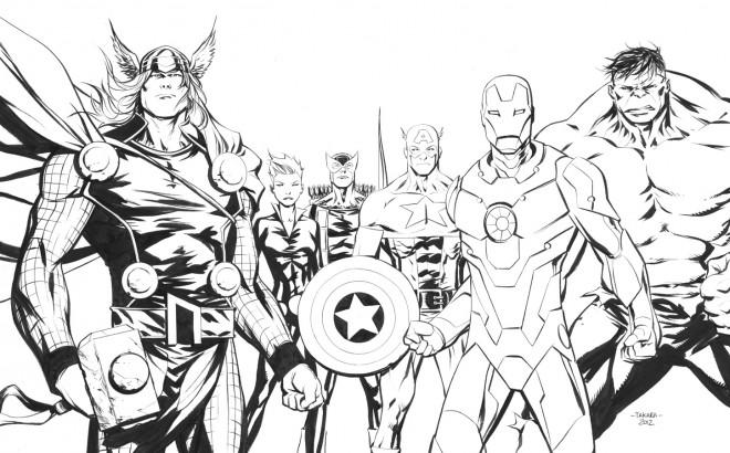 Coloriage Super Héros Marvel Personnages Dessin Gratuit à