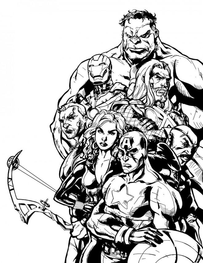 Coloriage super h ros marvel regroup s - Dessin super heros marvel ...