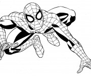 Coloriage Super Héros Marvel Spider Man