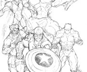 Coloriage Super Héros Marvel The Avengers