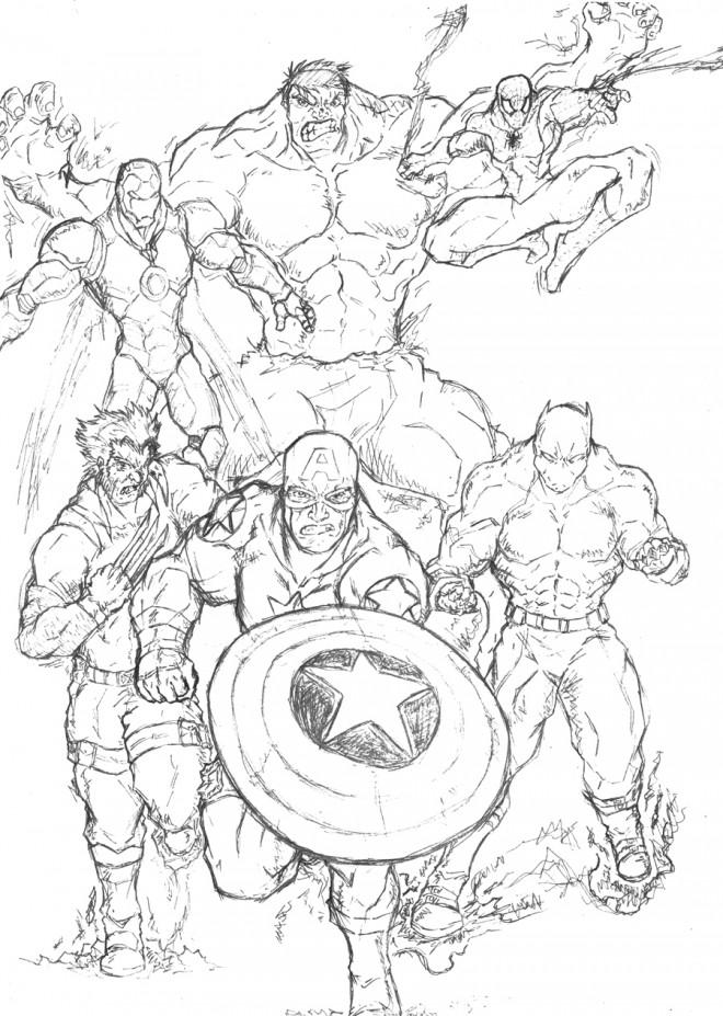 Coloriage super h ros marvel the avengers dessin gratuit imprimer - Dessin super heros marvel ...