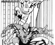 Coloriage Super Héros Spiderman dessin animé