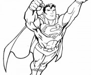 Coloriage Super Man en vol