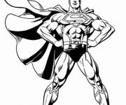 Coloriage et dessins gratuit Super Man vectoriel à imprimer