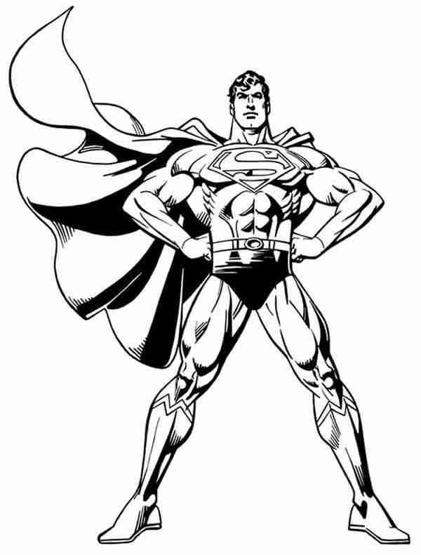 Coloriage et dessins gratuits Super Man vectoriel à imprimer