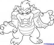 Coloriage bowser qui fait peur dessin gratuit imprimer - Dessin anime qui fait peur ...