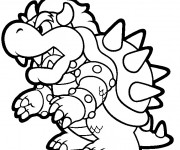 Coloriage Bowser vectoriel
