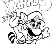 Coloriage dessin de Mario en couleur