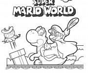 Coloriage Le Monde de Super Mario