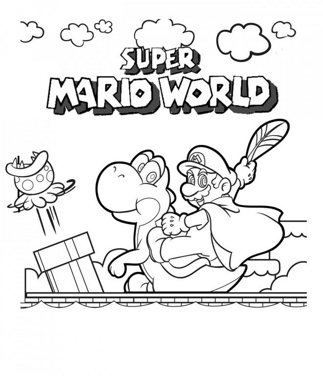 Coloriage et dessins gratuits Le Monde de Super Mario à imprimer